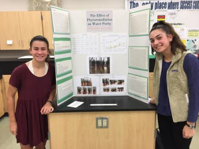 picture of 2 girls at science fair